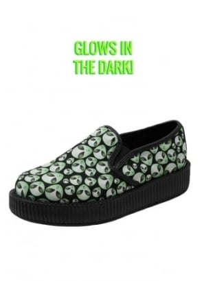 Glow In The Dark Alien Slip On Viva Creeper