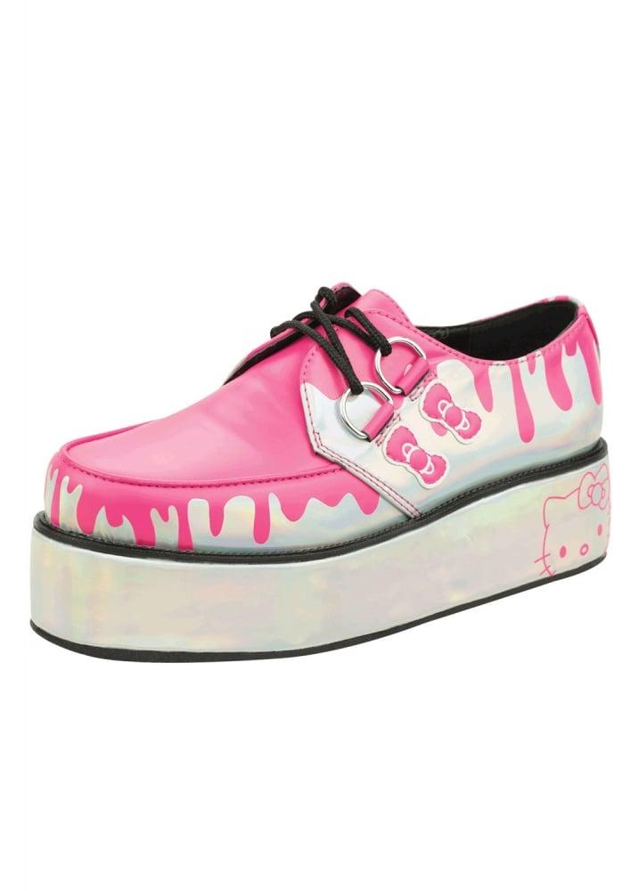 Tuk Shoes Hello Kitty Dripping Iridescent Creeper