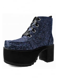 Jewels Glitter 4-Eye Vegan Nosebleed Boot