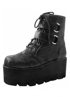 O-Ring Strap Tie Vegan Tractor Boot