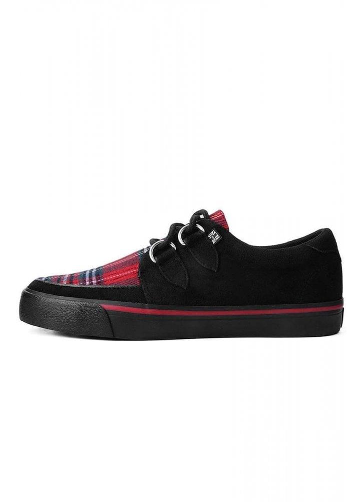 T.U.K Vlk D-ring Creeper Sneaker Unisex Tartan Black Schuhe Creeper