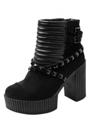 Yuni Quilted & Studded Suede Boot