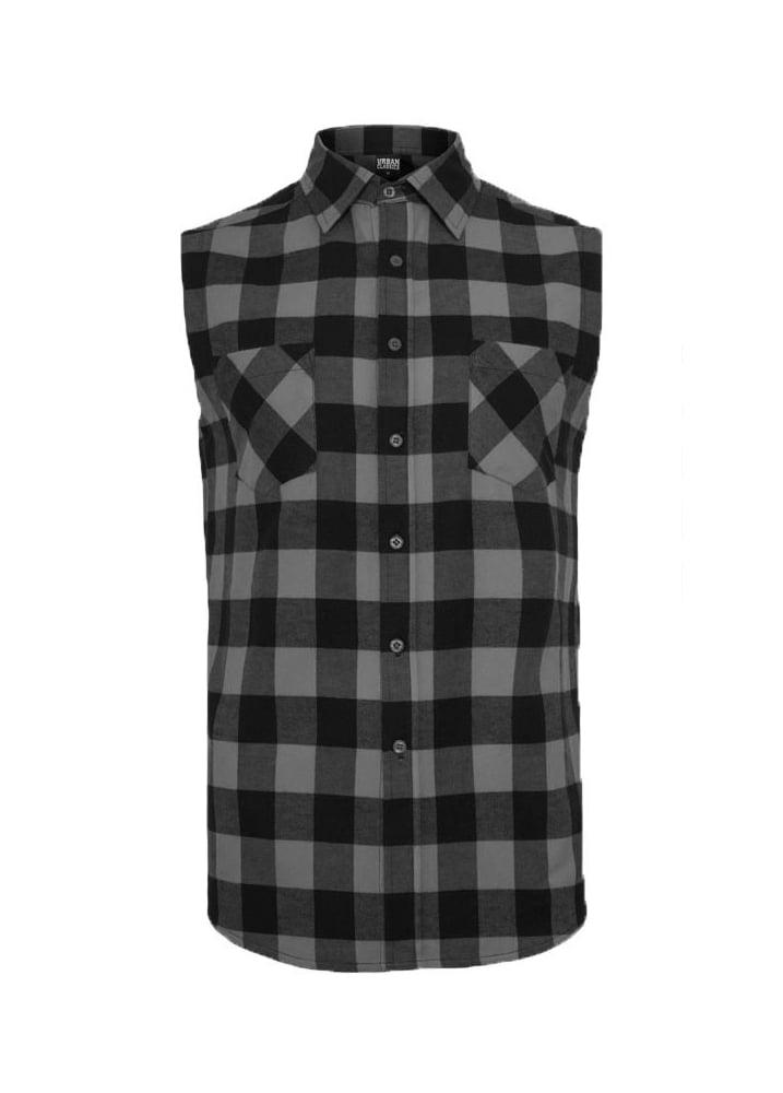 1223a5d5efb1 Urban Classics Sleeveless Checked Flannel Shirt | Attitude Clothing