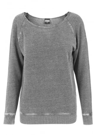 Urban Classics Burnout Open Edge Crewneck