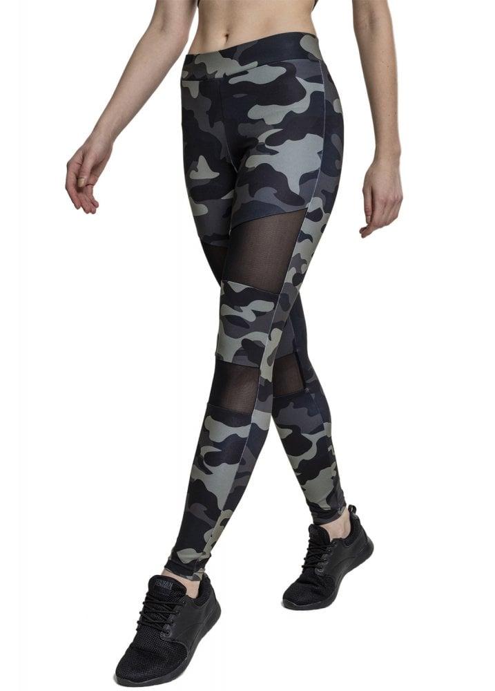 6a57a2f485402c Urban Classics Camo Tech Mesh Leggings | Attitude Clothing