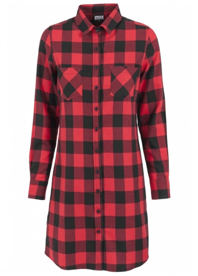Urban Classics Checked Flannel Shirt Dress
