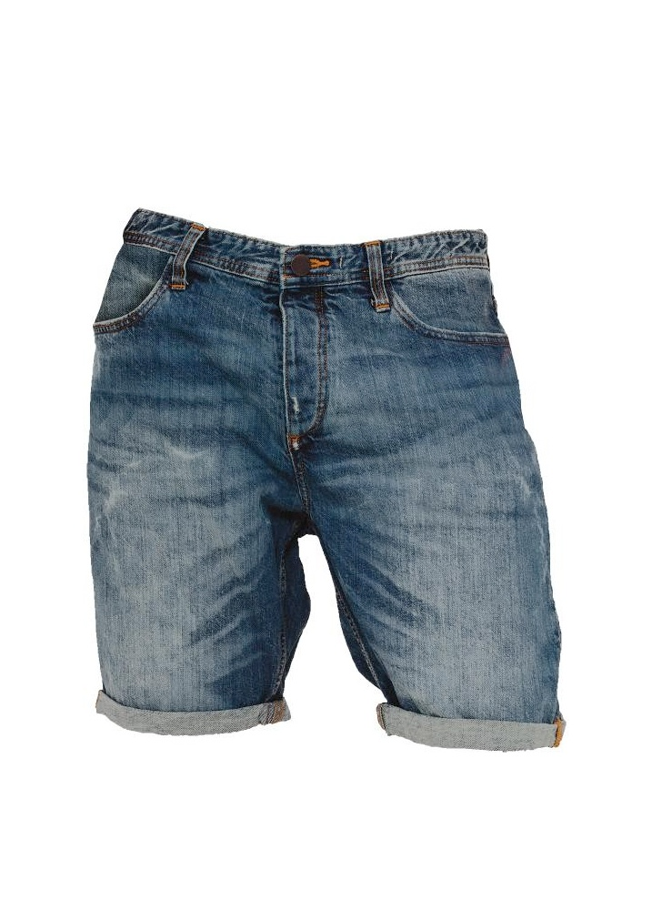 Fitted Denim Shorts