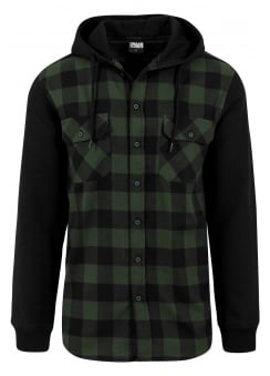 Hooded Checked Flannel Shirt