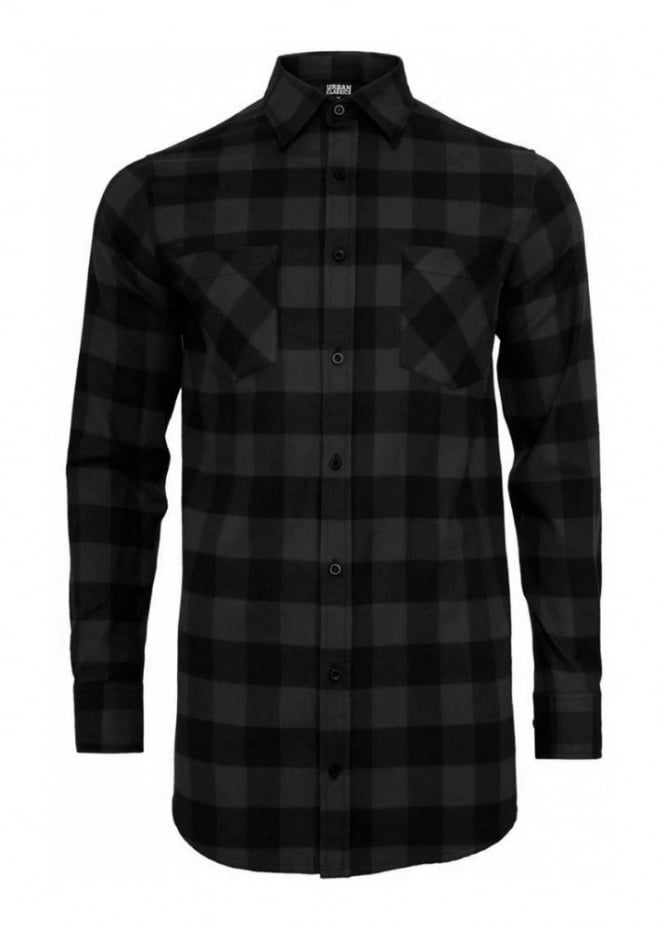 Urban Classics Long Checked Flannel Shirt