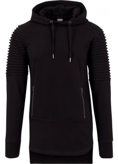 Pleat Sleeves Terry HiLo Hoody