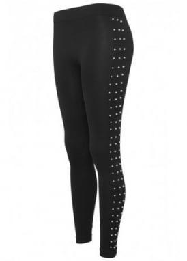 Side Rivets Stud Leggings