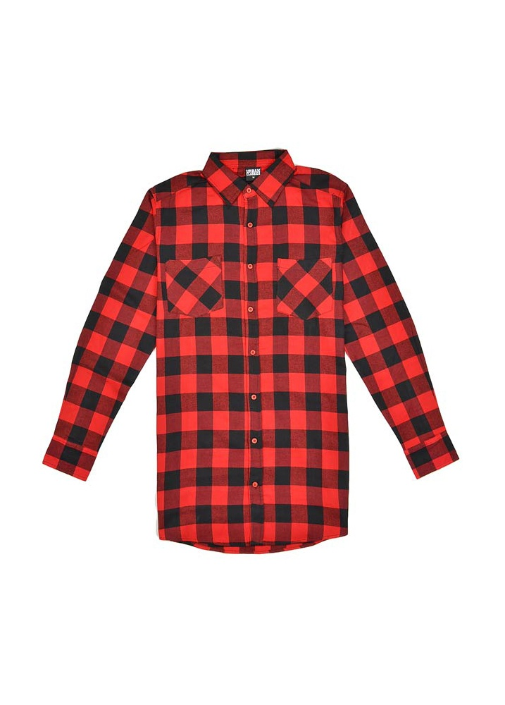 Urban Classics Side Zip Long Checked Flannel Shirt