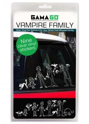 Vampire Family Window Stickers