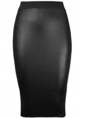 Wetlook Pencil Skirt