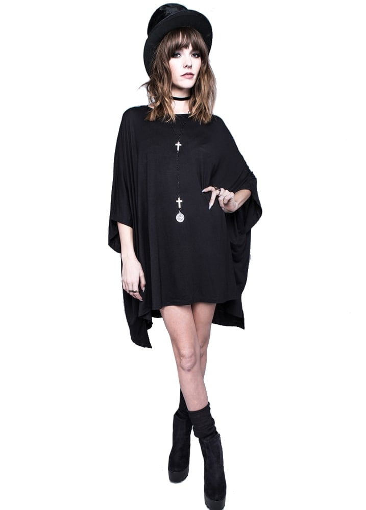 Black Assimilate Oversized Gothic Top