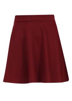 Wine Ponte Skater Skirt
