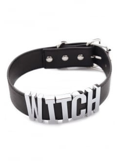 WITCH Leather Choker