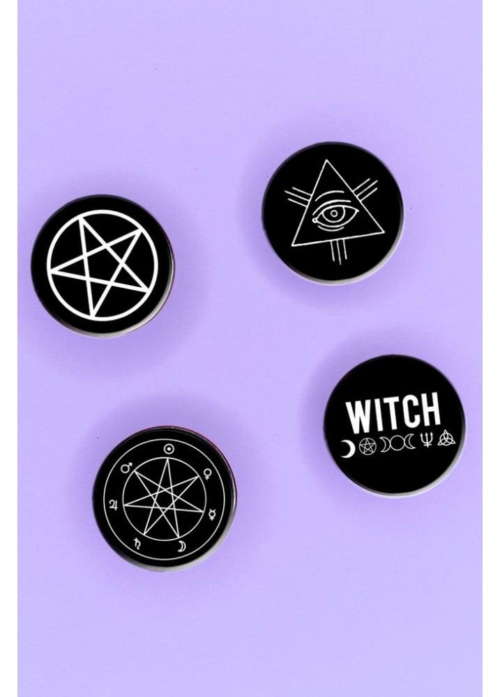 Witch Worldwide Witch Symbols Badge Pack | Attitude Clothing