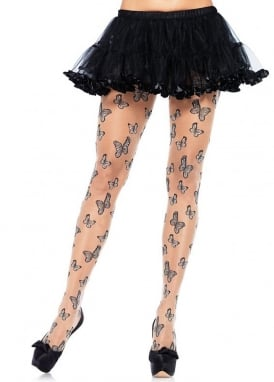 Woven Butterfly Pantyhose