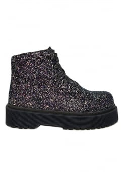 Slayr Glitter Black Boot