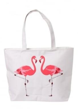 Zipped Flamingos Bag