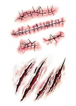 Zombie Scars Temporary Tattoos